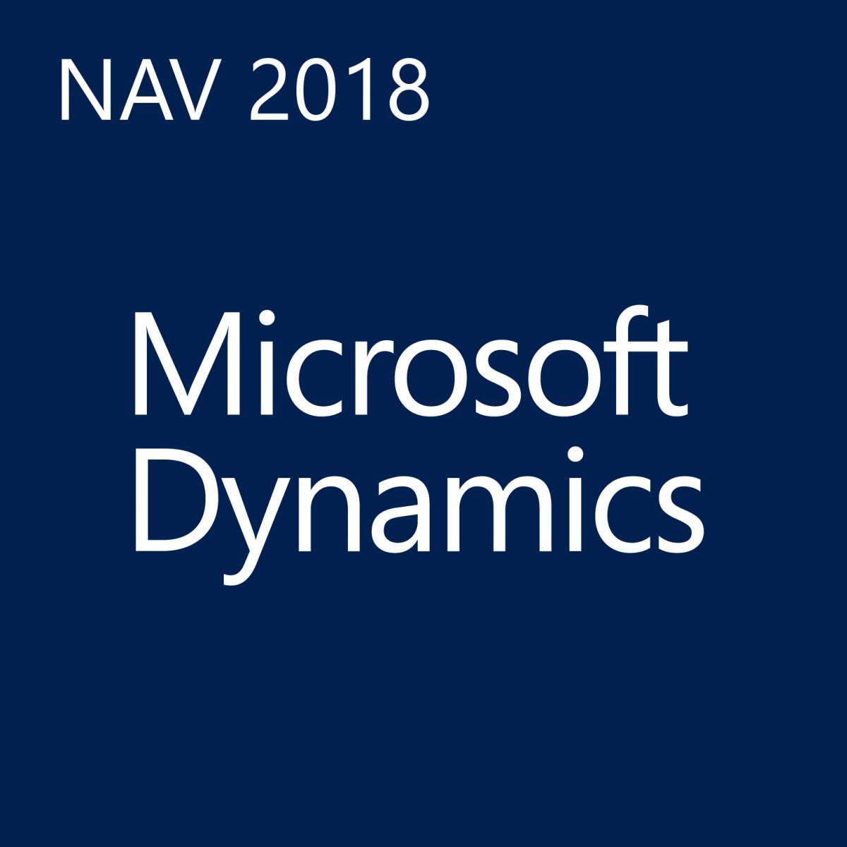 MS Dynamics NAV 2018